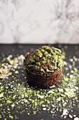 Matcha-Muffin mit Haferflocken