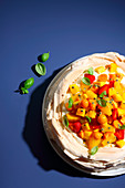 Exotic pavlova (trend from the 2000s)