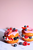 Marshmallow berry cronuts (trend from the 2010s)