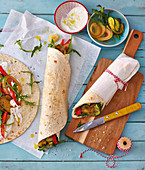 Vegetable wraps to take away