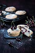 Vegan sour cherry muffins