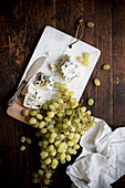 Roquefort and green grapes