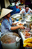 Street food vendors in Saigon