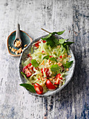 Vietnamese green papaya salad with peanuts