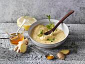 Curry-Ingwer-Aufstrich mit Frischkäse