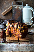 Chocolate pull apart bread