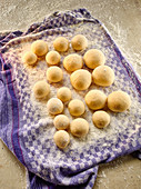 Dough balls for making mini doughnuts