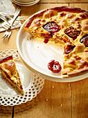 Plum and walnut pie