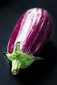 A purple and white aubergine
