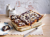 Rum and raisin chocolate slice