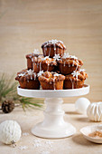 Christmas muffins with dried fruit and cinnamon