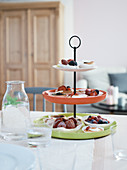 Tartlets on a homemade cake stand