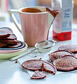 Mini chocolate pancakes