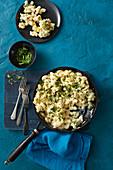 Macaroni and Cheese mit Blumenkohl und Ricotta