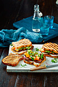 Gluten-free Rogan Josh steak sandwiches