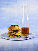 Blueberry Pancakes mit Ahornsirup