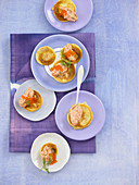 Blinis with salmon cream
