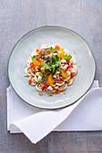 Mushroom carpaccio with oranges