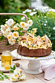 Honey and fig cake with pistachio nuts