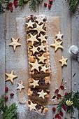 Frangipane and dried fruit (mince) christmas tart