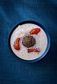 Foam soup with sea urchin caviar