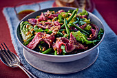 Beef salad with green beans