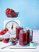 Strawberry and passion fruit jam