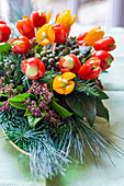 Bouquet of cherry tomatoes, rosemary and avocado