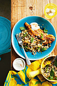 Persian-spiced fish with quinoa salad