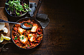 Spanish style braised fish stew