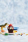 Pinata volcano cake