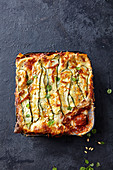 Meatball lasagne with zucchini