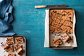 Gluten-free anzac slice