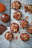 Hazelnut mocha doughnuts