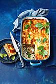 Lasagne mit Grillgemüse, Ricotta und Pesto