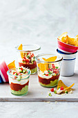 Tiny taco dipping pots
