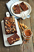 Chickpeas brownie with pears