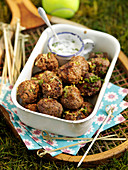 Herbed meatballs for picnic