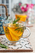 Lemon and rosmary tea