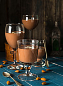 Vegan almond chocolate pudding