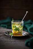 A hot drink made with lemon and fresh thyme (anti-inflammatory)
