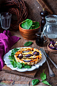 Red onion and balsamic vinegar tartlets