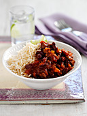 Beef chili with rice