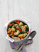 One Pot with chicken, vegetables and tarragon