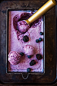 Blackberry and Blueberry IceCream