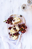 Roasted Red Grapes with Ricotta