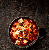 Korean pork and kimchi soup
