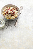 Couscous with radicchio and cauliflower