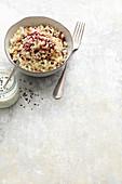 Couscoussalat mit Radicchio und Blumenkohl