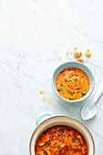 Lentil curry soup with cashew nuts